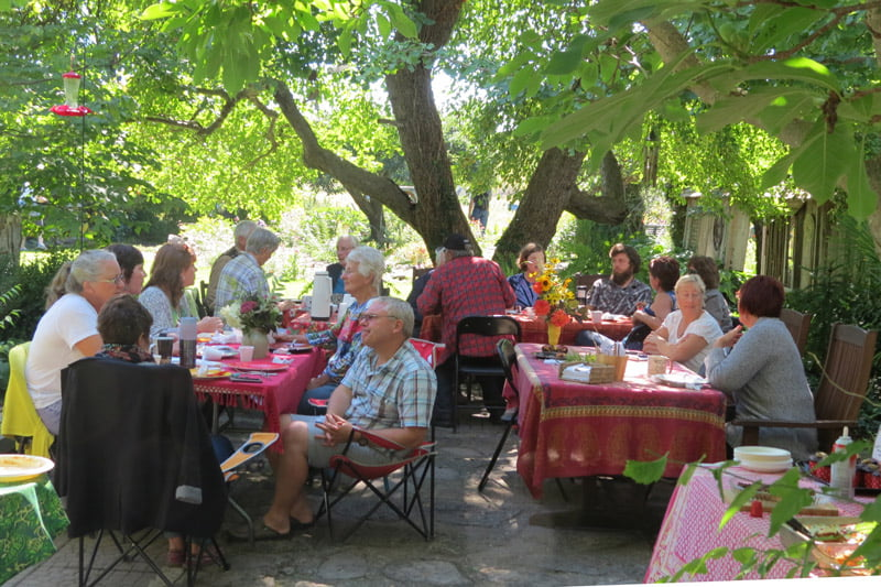 RGGB Members at a garden potluck